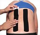 Precut Kinesio Tape Back Application Step 2
