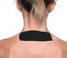 Kinesio tape precut neck tape application step 3