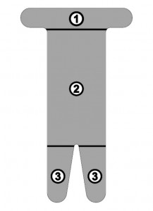 SpiderTech Precut Hamstring Application - Reverse Side