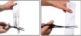 Kinesio tape precut foot tape application step 1