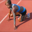 Damu Cherry US Olympic Hurdler wearing RockTape