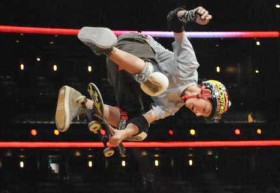 Mitchie Brusco wearing RockTape at the Summer 2012 X Games Skateboarding competition